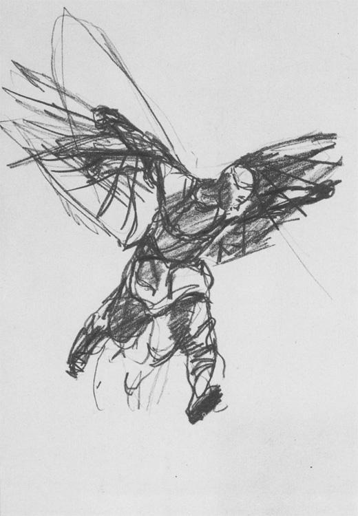 Рисунок к картине «Никитка - первый русский летун»
