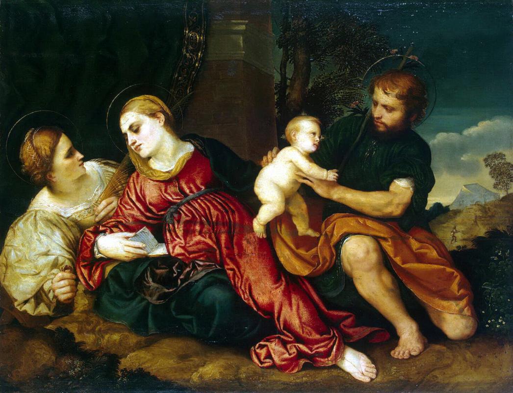 Парис Бордоне. Святое Семейство со Святой Екатериной