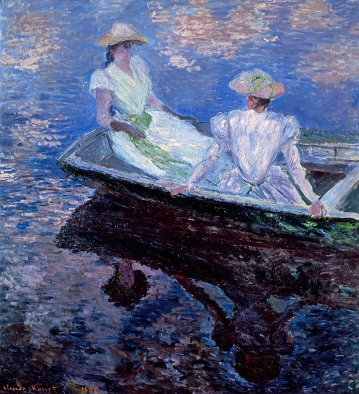 Клод Моне. Девушки в лодке