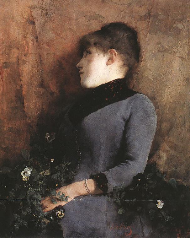 Мечты (Портрет женщины)