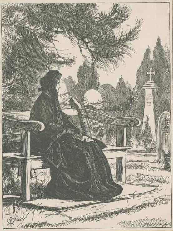 """Джон Эверетт Милле. Служанка и госпожа. Иллюстрация для журнала """"Хорошие слова"""""""