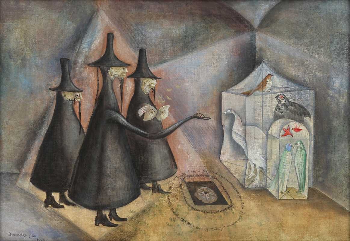 Leonora Carrington. The houses from Burnley