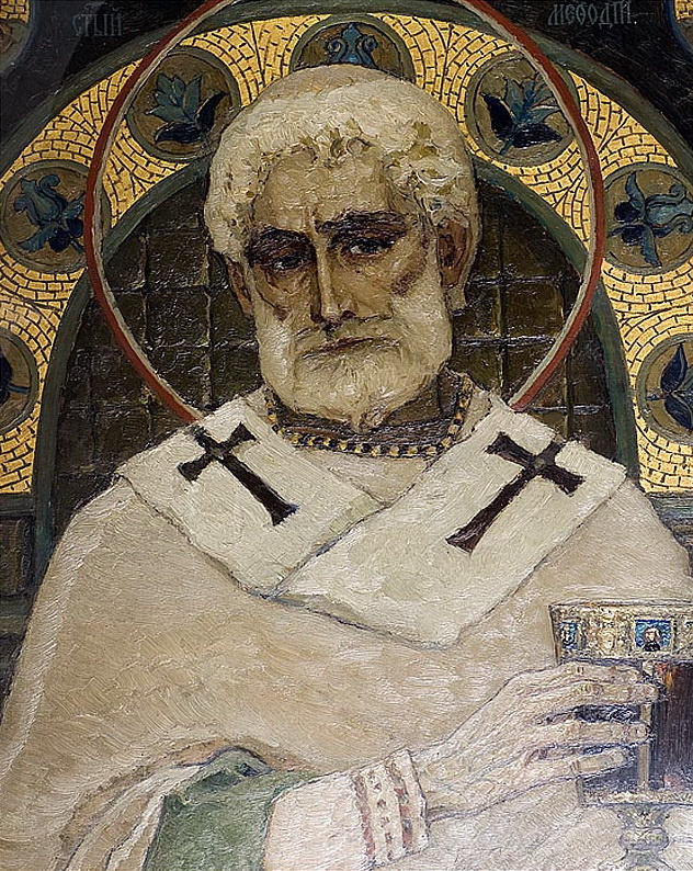 Mikhail Vasilyevich Nesterov. St. Methodius. Fragment of painting of the Vladimir Cathedral in Kiev