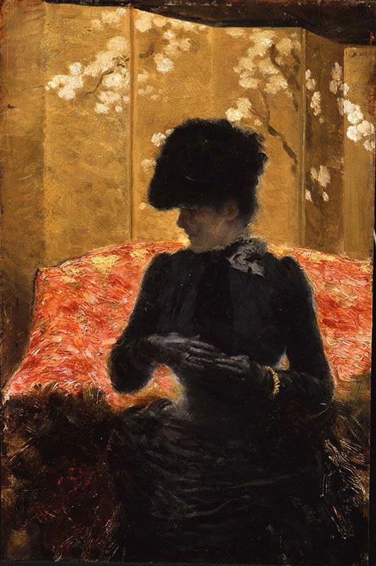 Джузеппе де Ниттис. Дама на красном диване