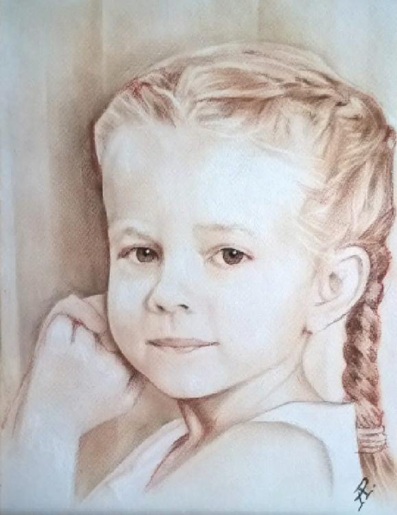 Anatoly Alexandrovich Rybakov. Child portrait