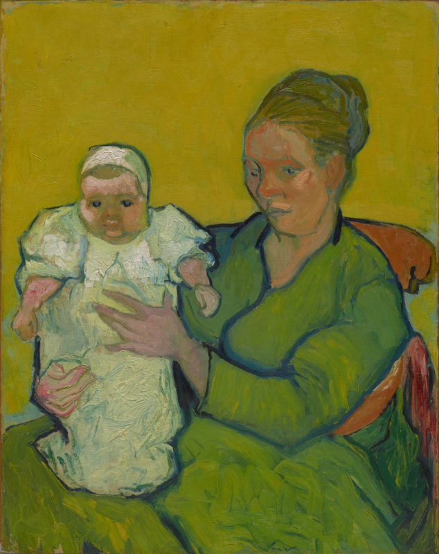 Portrait of Madame Augustine Roulin and Baby Marcel