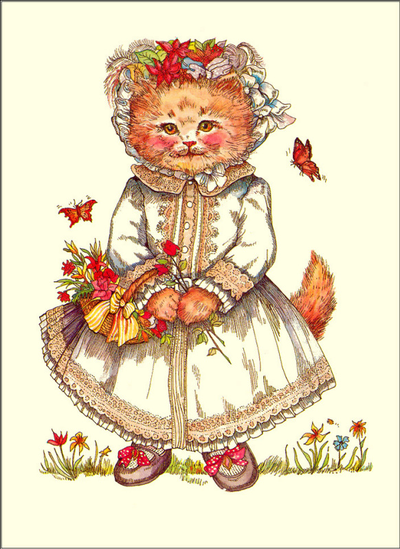 Эвелин Гэзингс. Кошка в белом платье