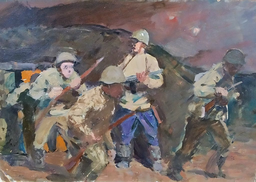 Maxim Sergeyevich Kosykh. The soldiers