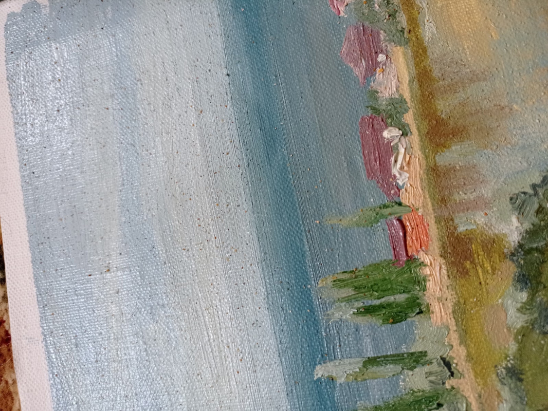 Вид с горы на Азовское море