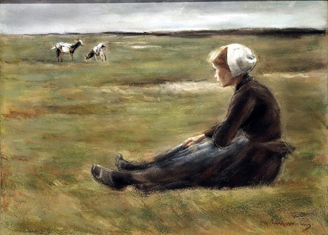 Макс Либерман. В поле