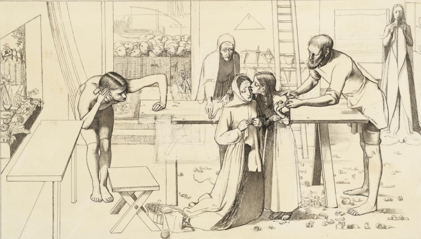 John Everett Millais. Christ in the house of his parents. Sketch
