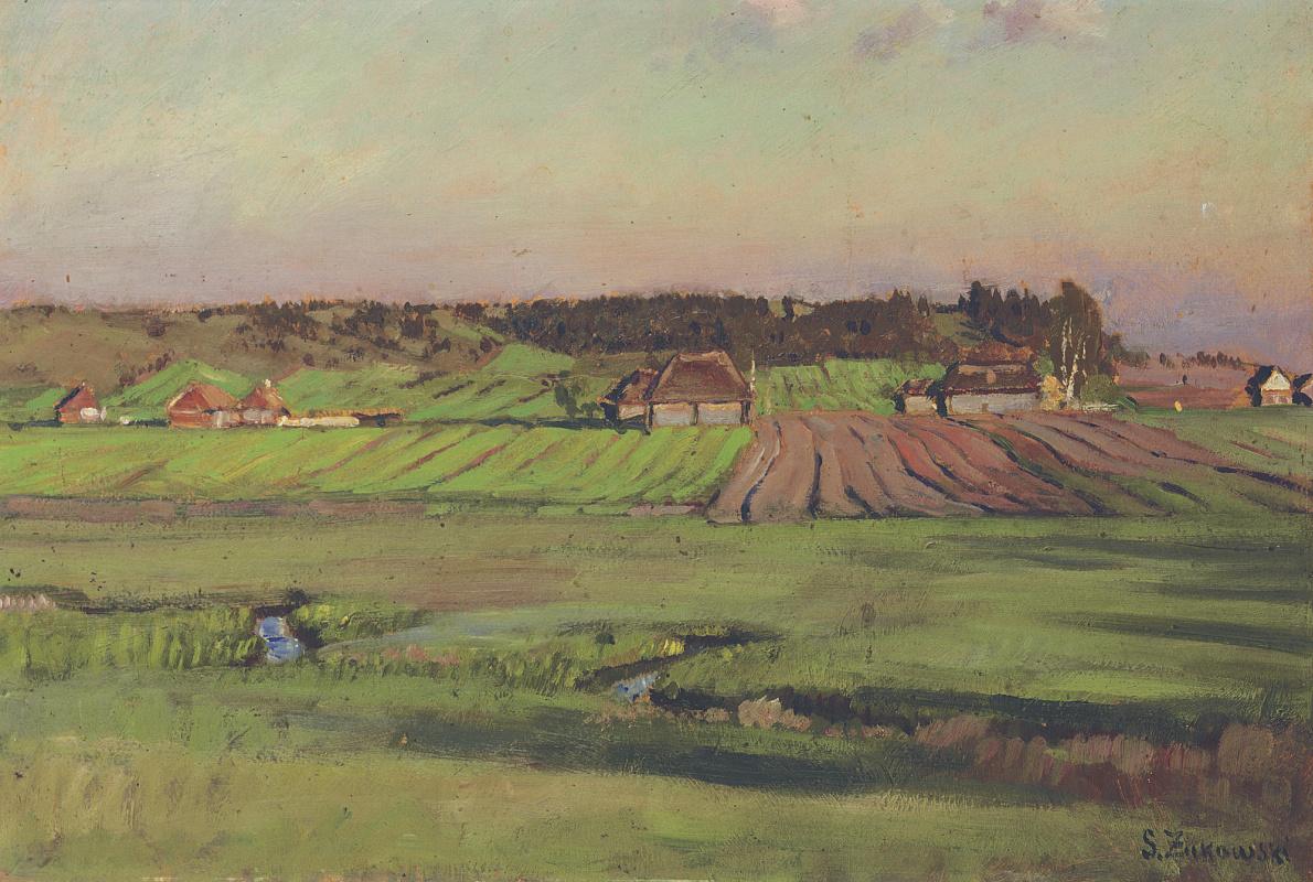 Stanislav Yulianovich Zhukovsky. Rural landscape