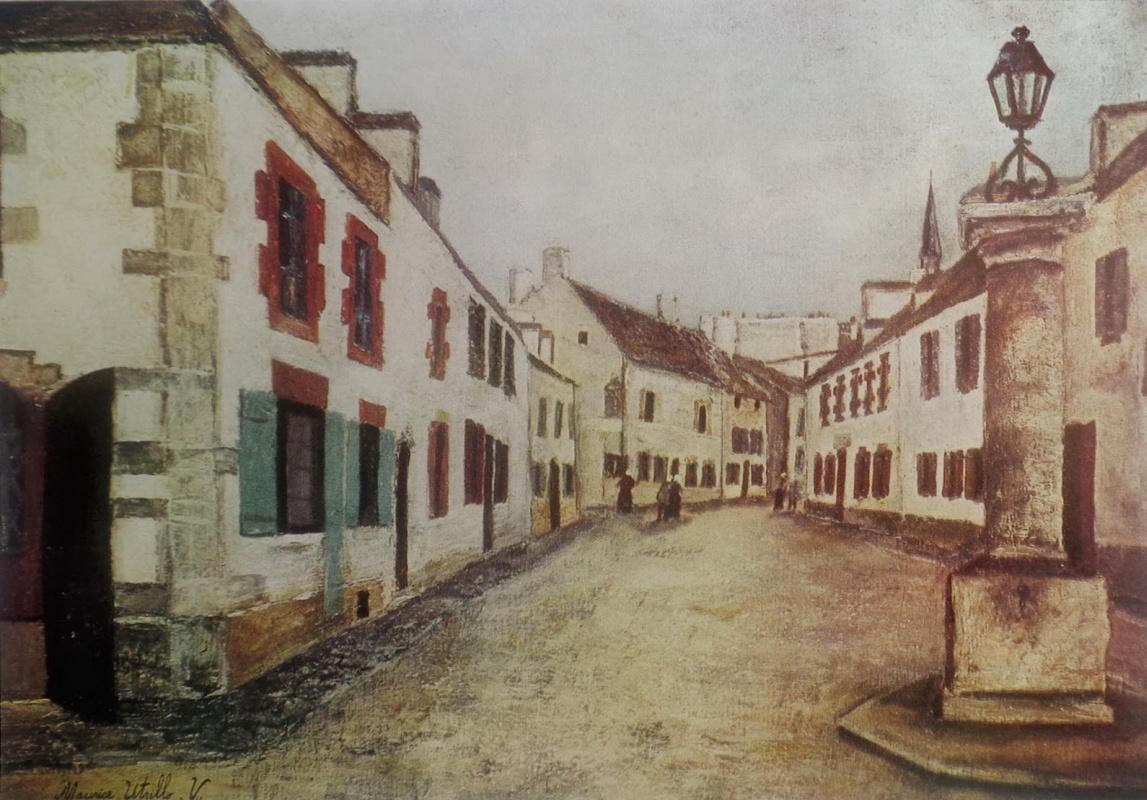 Морис Утрилло. Улица в Ле Конке. Бретань