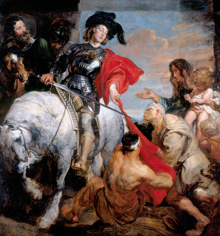 Anthony van Dyck. Saint Martin divides his cloak