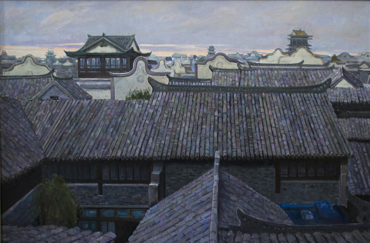 Mikhail Borisovich Lavrenko. China. The roofs of the old city