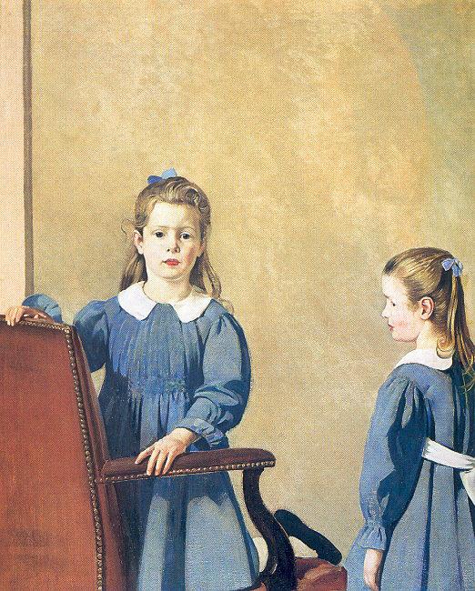 Джозеф Пирсон. Девочки в голубых платьях
