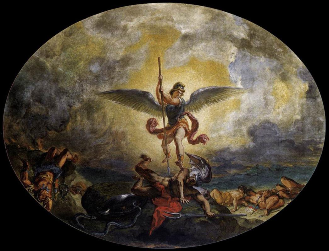 Эжен Делакруа. Св. Михаил изгоняет дьявола с Небес