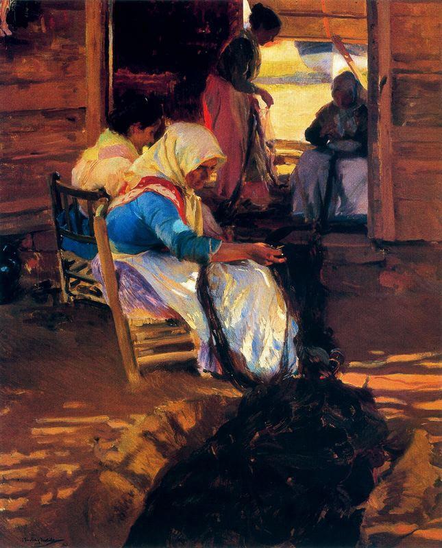 Хоакин Соролья (Соройя). Плетение сетей