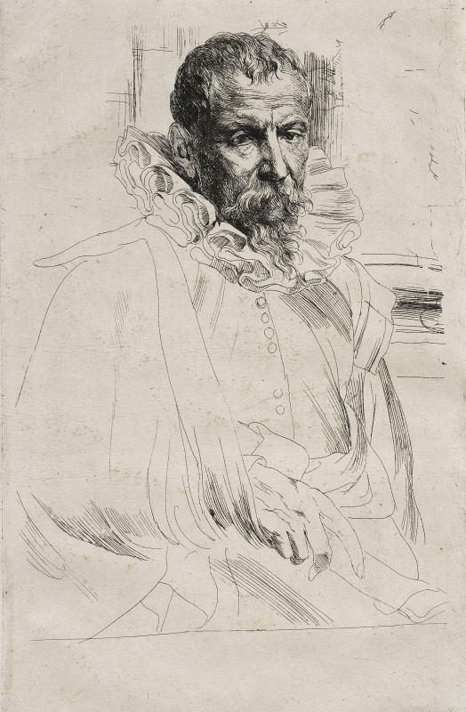 Anthony van Dyck. Portrait of Pieter Bruegel the Younger