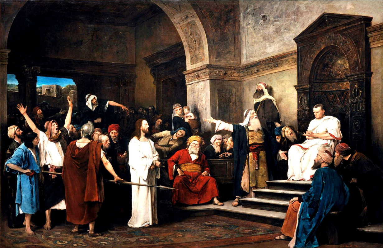 Михай Либ Мункачи. Христос перед Пилатом