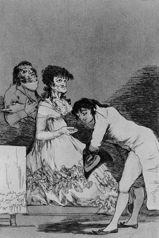Франсиско Гойя. Старая дама и её поклонник