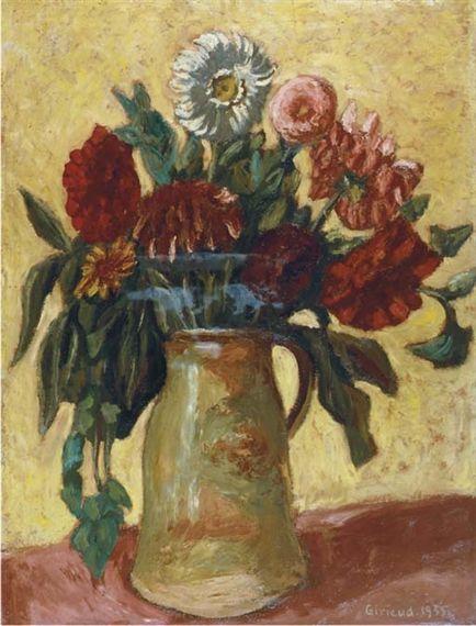 Пьер Поль Жирье. Натюрморт с цветами