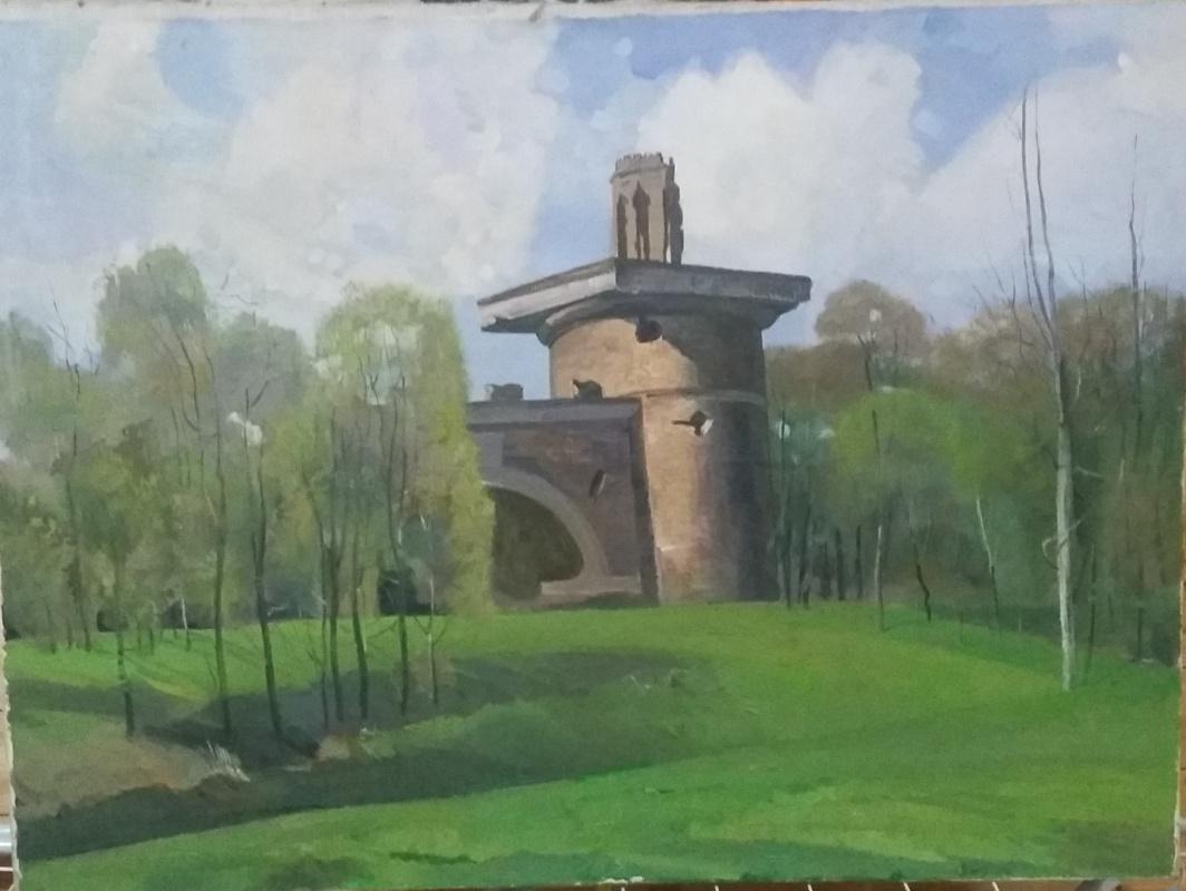 Nikolay Ustinovich Martynov. May Day. Tower ruin.