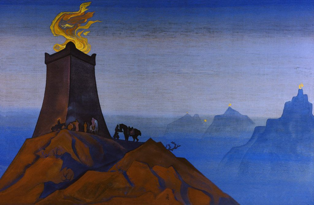 Nicholas Roerich. Flowers of Timur (Lights of victory)