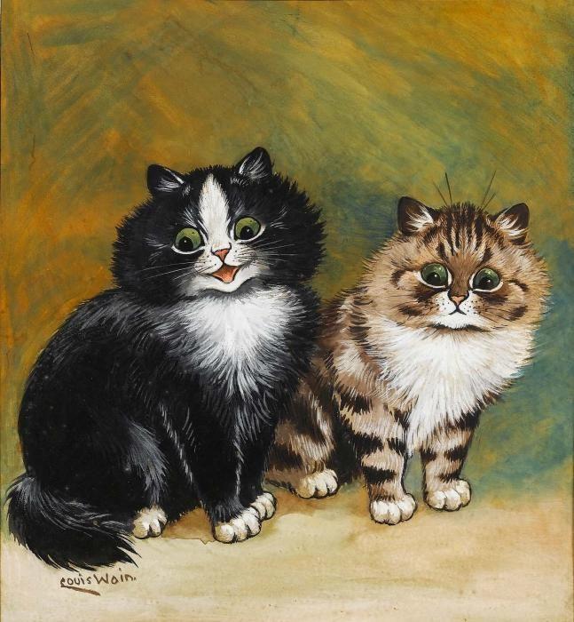 Louis Wain. Two little kittens