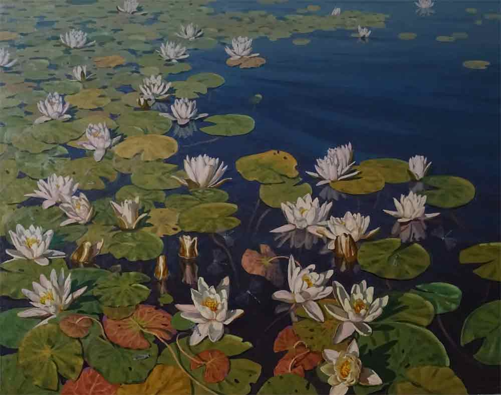 Pavel Popov. Water lily. Northern Lotus