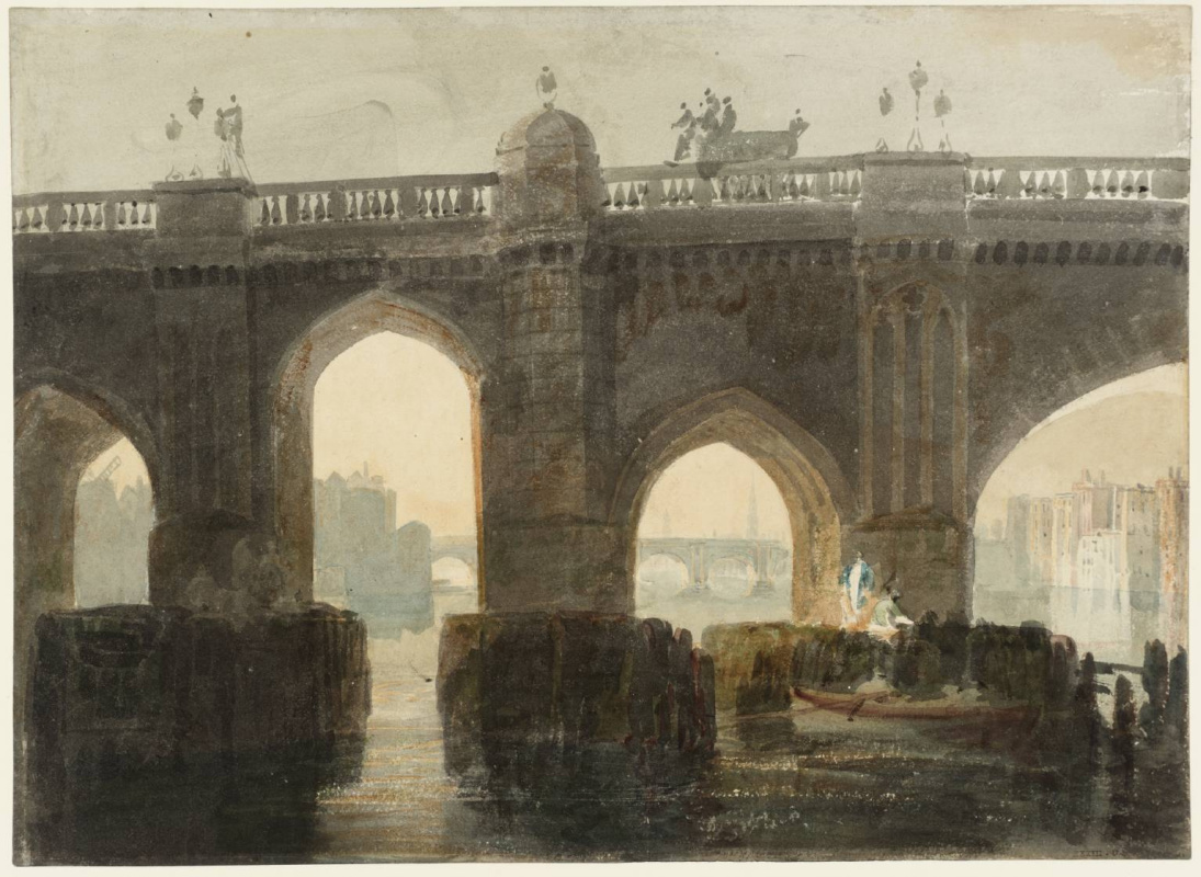 Joseph Mallord William Turner. Old London bridge