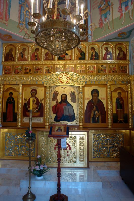 Иконостас в Часовне Давида Серпуховского в с. Талеж