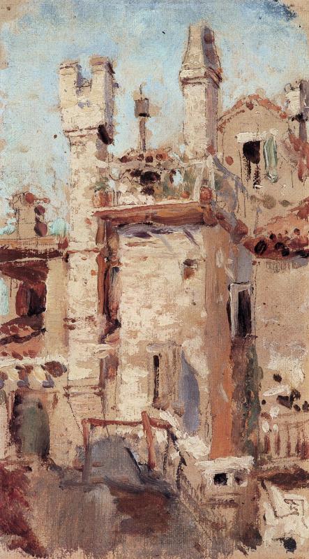 Vasily Polenov. Venice. Pipes