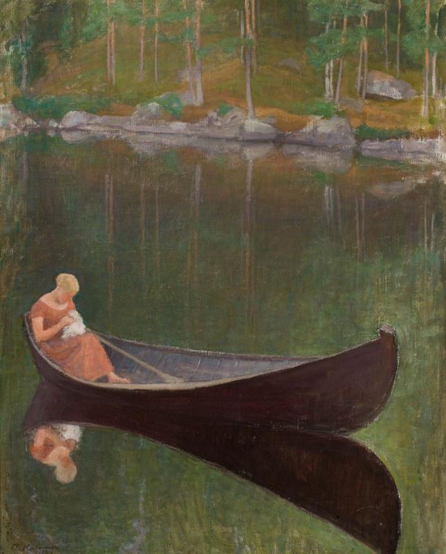 Пекка Халонен. Женщина в лодке