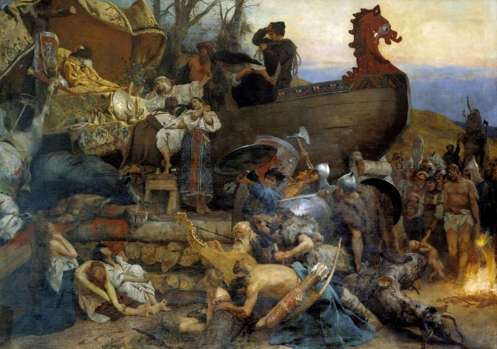 Генрих Ипполитович Семирадский. Похороны знатного руса