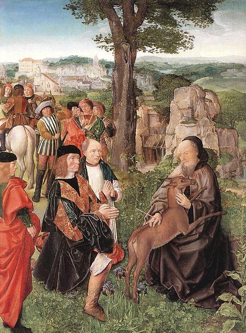Master of Saint Egidio. Saint Giles and the deer