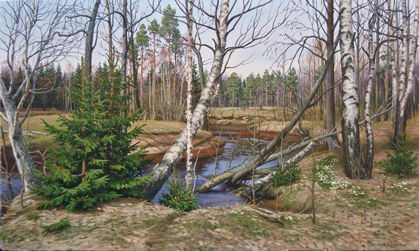 Alexander Vasilyevich Zoryukov. April came