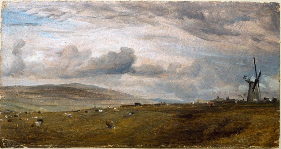 John Constable. Landscape with a windmill near Brighton