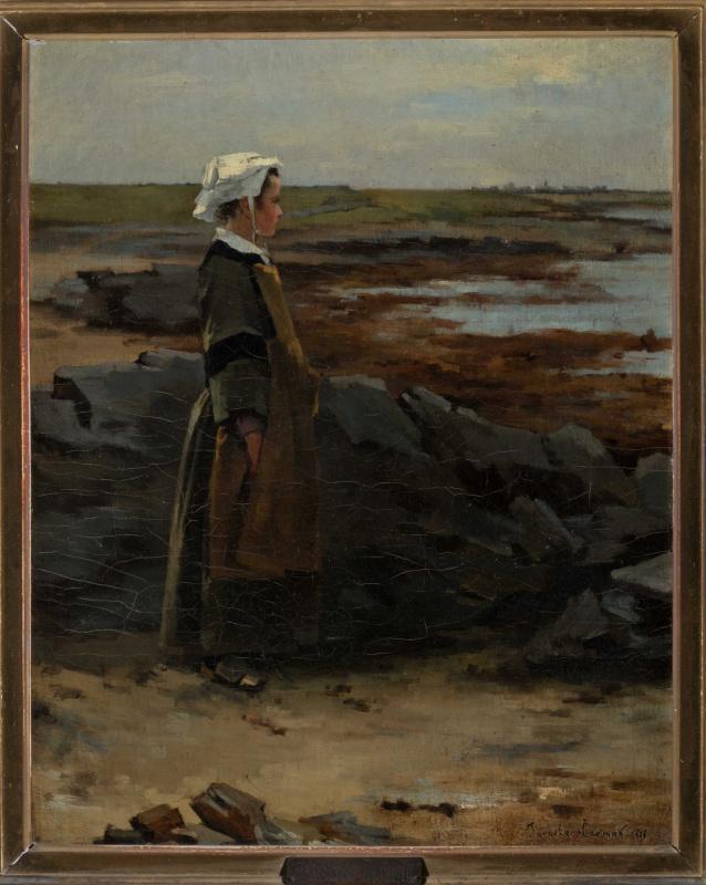 Молодая бретонка на побережье