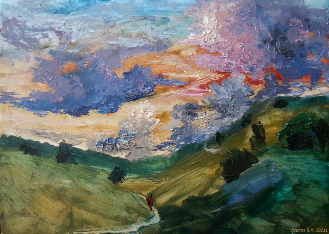 Владимир Иванович Осипов. Evening clouds