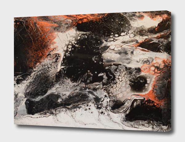Черно-белая абстрактная картина