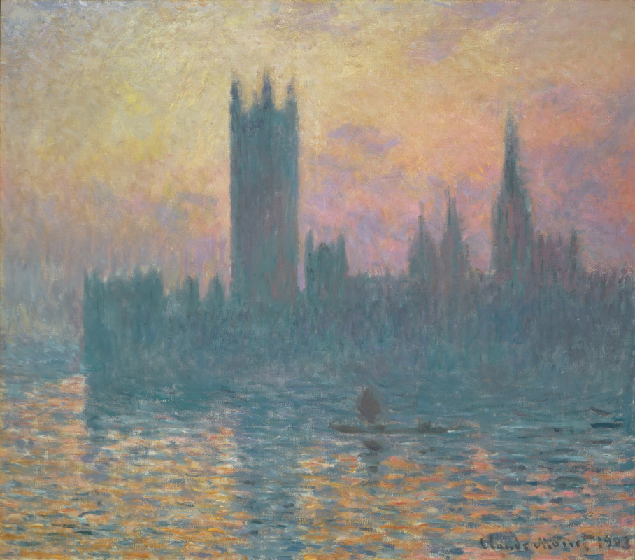 Claude Monet. The houses of Parliament, sunset