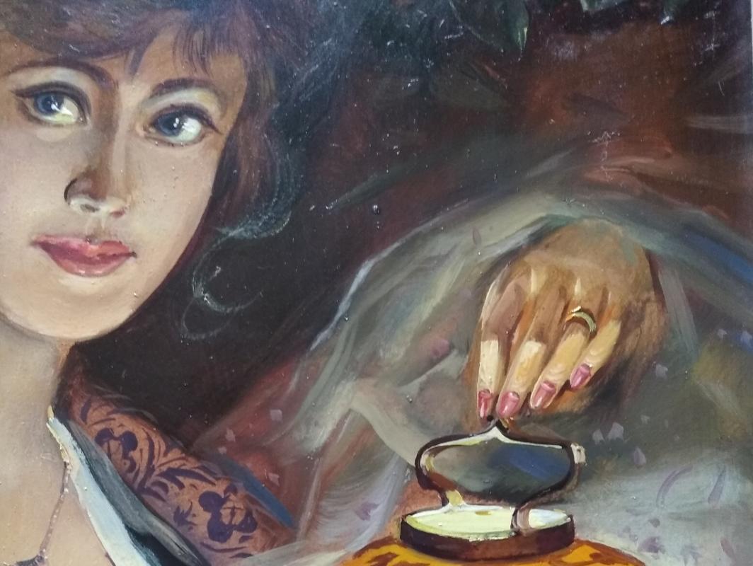 "Alexander Grigorievich Serdyukov. ""Girl with a lamp"""