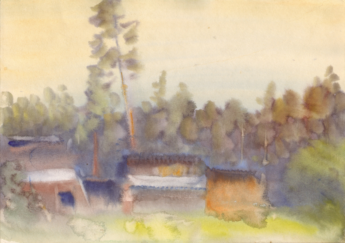 Вячеслав Крыжановский. Pines beyond the hill (state 4).