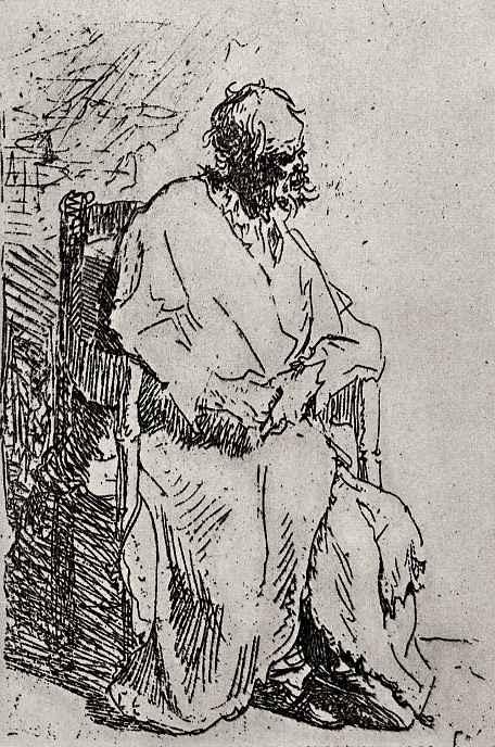 Рембрандт Ван Рейн. Нищий в кресле