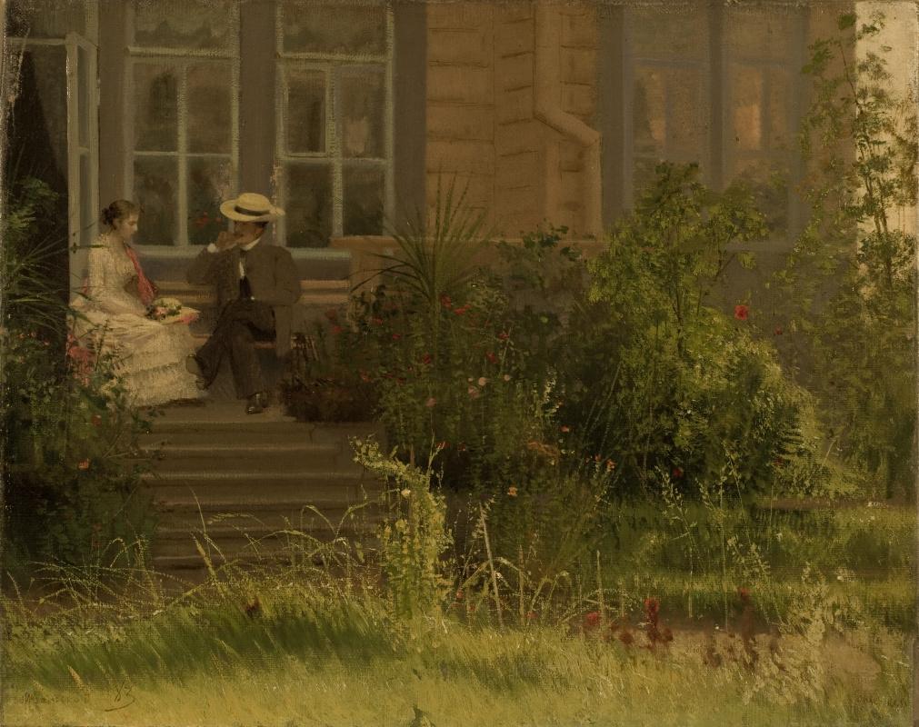Иван Николаевич Крамской. На балконе. Сиверская