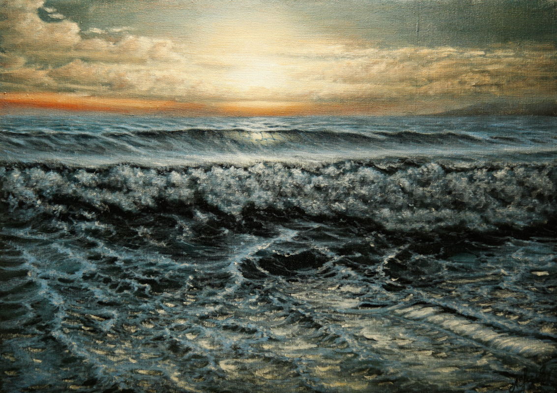 Valery Levchenko. No. 177 The Wave in the Last Rays of the Sun