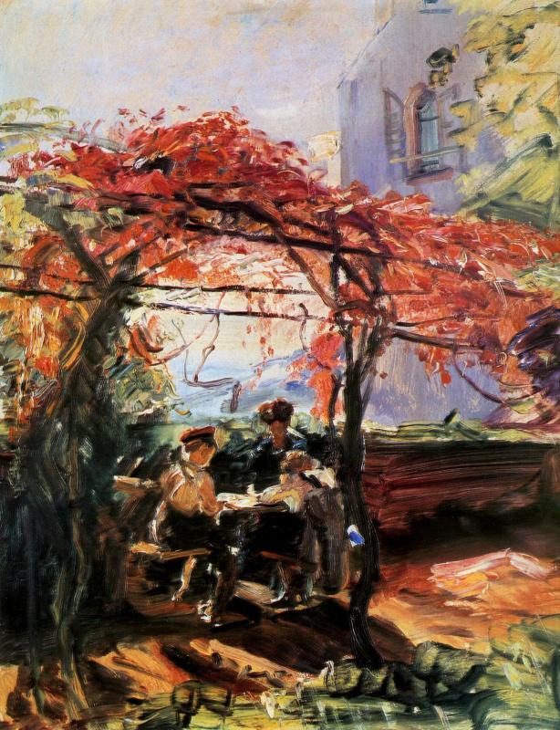 Макс Слевогт. Дети в саду