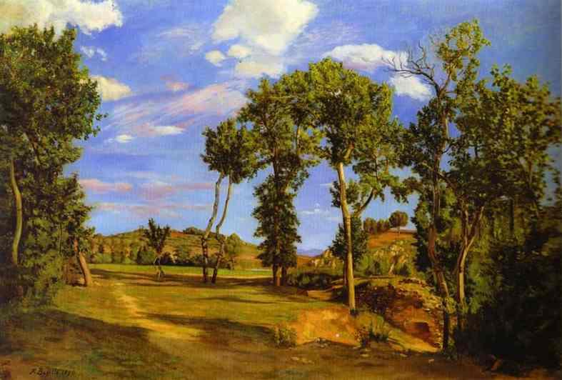Frédéric Bazille. Landscape on the banks of the Lez