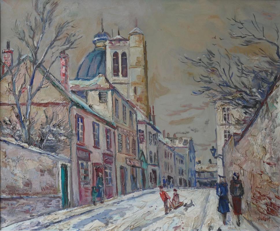 Alphonse Leon Quizet. Зима на Монмартре